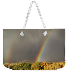 Morning Rainbow In Wyoming Weekender Tote Bag