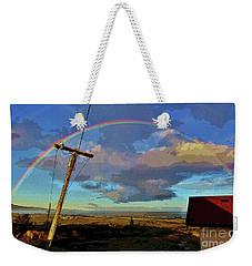 Morning Rainbow Over Kalaupapa Weekender Tote Bag by Craig Wood