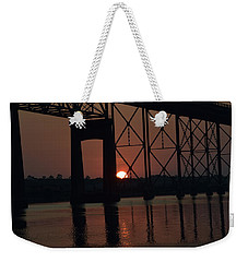 Weekender Tote Bag featuring the photograph Morning Reflections by John Glass