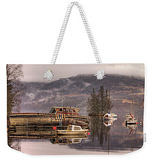 Morning Reflections Of Loch Ness Weekender Tote Bag by Ian Middleton