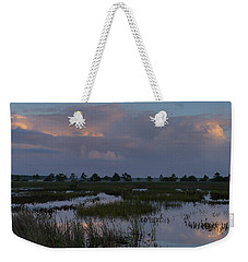 Morning Reflections Over The Wetlands Weekender Tote Bag