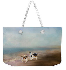 Morning Run At The Beach Weekender Tote Bag