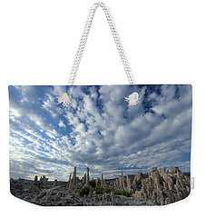 Weekender Tote Bag featuring the photograph Morning Skies Over Tufa by Sean Sarsfield