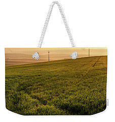 Weekender Tote Bag featuring the photograph Morning Sun. Moravian Tuscany by Jenny Rainbow