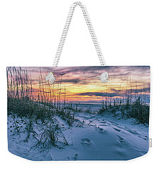 Weekender Tote Bag featuring the photograph Morning Sunrise At The Beach by John McGraw