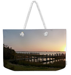 Morning Sunrise Over Assateaque Island Weekender Tote Bag by Donald C Morgan