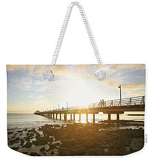 Morning Sunshine At The Pier  Weekender Tote Bag