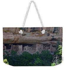 Weekender Tote Bag featuring the photograph Morning View Of Cliff House Mesa Verde by Debby Pueschel