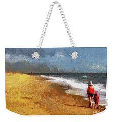 Morning Walk Along The Beach Weekender Tote Bag