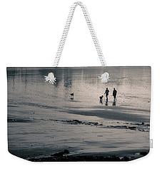 Morning Walk, Gooch's Beach, Kennebunk, Maine Weekender Tote Bag
