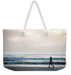 Morning Walk With Color Weekender Tote Bag