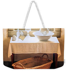 Weekender Tote Bag featuring the painting Morning Window At Old World Wisconsin by Christopher Arndt