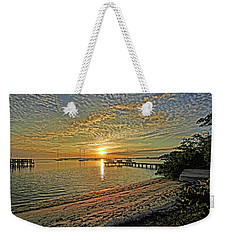 Weekender Tote Bag featuring the photograph Mornings Embrace by HH Photography of Florida