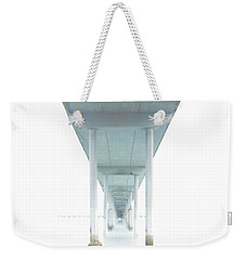 Weekender Tote Bag featuring the photograph Mornings Underneath The Pier by James Sage
