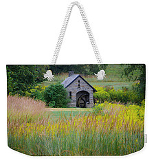 Weekender Tote Bag featuring the photograph Morris Arboretum Mill In September by Bill Cannon