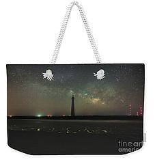 Morris Island Light House Milky Way Weekender Tote Bag