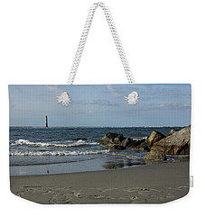 Weekender Tote Bag featuring the photograph Morris Lighthouse by Sandy Keeton