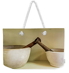 Weekender Tote Bag featuring the photograph Mortar And Pestle by Paul Freidlund