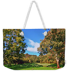 Mortimer Galah Live At The Grass Ampitheatre Weekender Tote Bag by Mark Blauhoefer