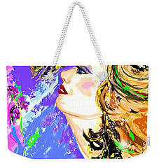 Weekender Tote Bag featuring the digital art Mosaic Dreams by Desline Vitto
