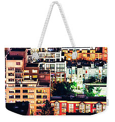 Mosaic Juxtaposition By Night Weekender Tote Bag by Amyn Nasser