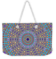 Weekender Tote Bag featuring the digital art Mosaic Kaleidoscope  by Shawna Rowe