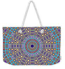 Weekender Tote Bag featuring the digital art Mosaic Kaleidoscope  by Shawna Rowe