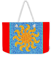 Mosaic Stained-glass Of The Sun Weekender Tote Bag