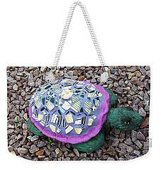 Weekender Tote Bag featuring the ceramic art Mosaic Turtle by Jamie Frier