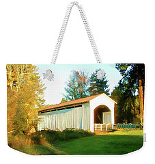 Mosby Creek Covered Bridge Weekender Tote Bag