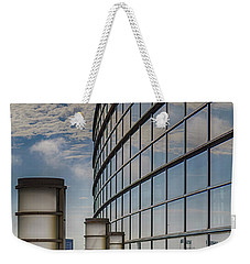 Weekender Tote Bag featuring the photograph Moscone West Balcony by Darcy Michaelchuk
