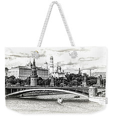 Moscow In Black And White Weekender Tote Bag by Janis Knight
