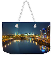 Weekender Tote Bag featuring the photograph Moscow Kremlin At Night by Alexey Kljatov