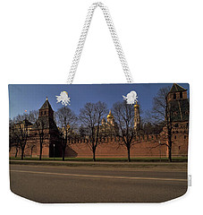 Weekender Tote Bag featuring the photograph Moscow Kremlin In Winter by Travel Pics