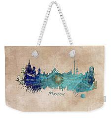 Moscow Skyline Wind Rose Weekender Tote Bag by Justyna JBJart