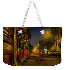 Weekender Tote Bag featuring the photograph Moscow Steampunk Sketch by Alexey Kljatov