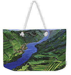 Weekender Tote Bag featuring the painting Moselle River by Jamie Frier