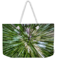 Moss On Rock Wall Abstract Weekender Tote Bag by Stuart Litoff