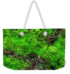 Weekender Tote Bag featuring the photograph Moss On The Hillside by Mike Eingle