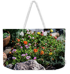 Moss Rose In The Rocks #1 Weekender Tote Bag