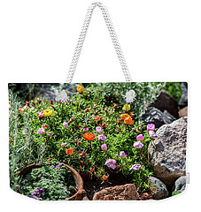 Moss Rose In The Rocks #2 Weekender Tote Bag