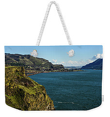 Mossy Cliffs On The Columbia Weekender Tote Bag