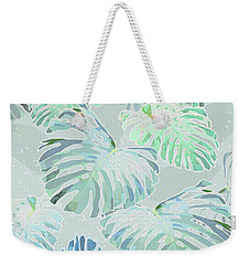 Mossy Faded Monstera Weekender Tote Bag