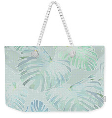Mossy Faded Monstera Light Weekender Tote Bag