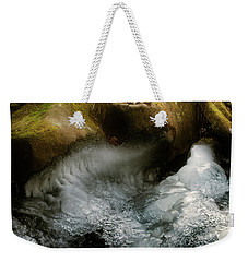 Mossy Rocks And Ice Weekender Tote Bag