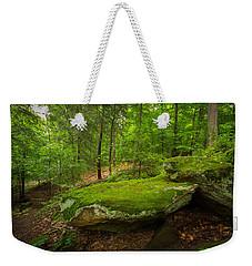 Mossy Rocks In Little Creek Park Weekender Tote Bag