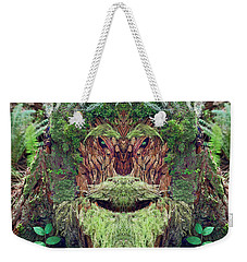 Weekender Tote Bag featuring the photograph Mossman Tree Stump by Martin Konopacki