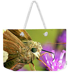 Moth On Purple Flower Weekender Tote Bag
