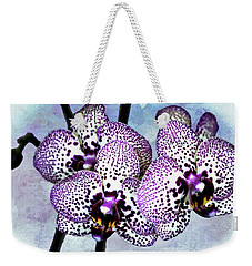 Moth Orchid Weekender Tote Bag by Barbara Chichester