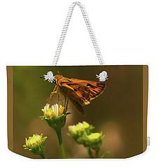 Moth Sitting On Yellow Flower Weekender Tote Bag